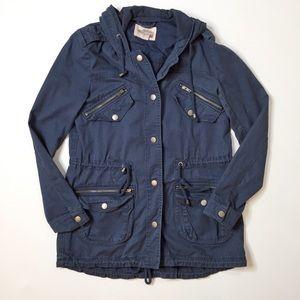Forever 21 Dark Blue Utility Jacket